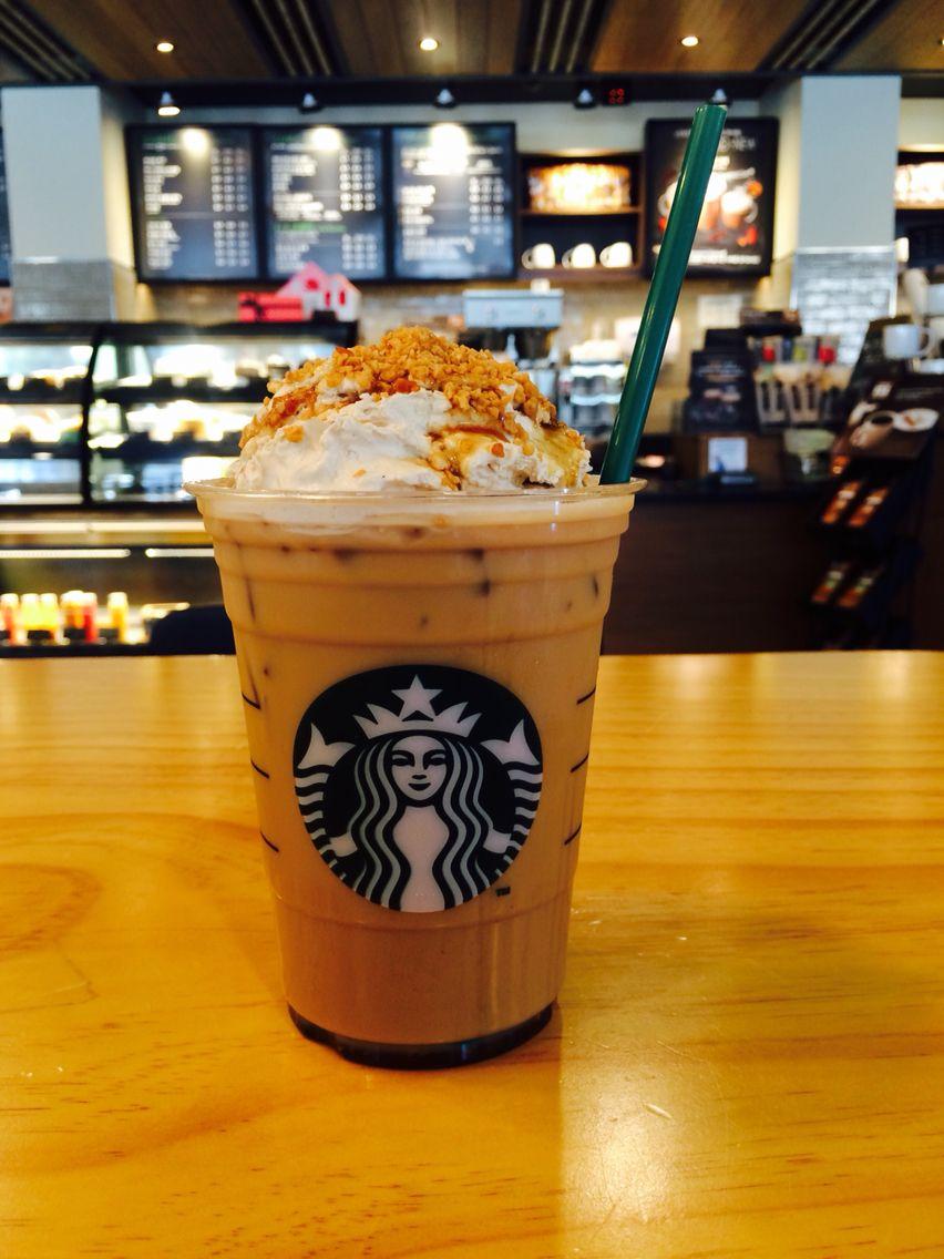 Starbucks iced maple pecan latteg chocolate coffee