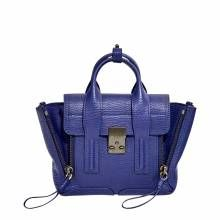 Phillip Lim Cobalt Leather Mini Pashli Satchel Bag
