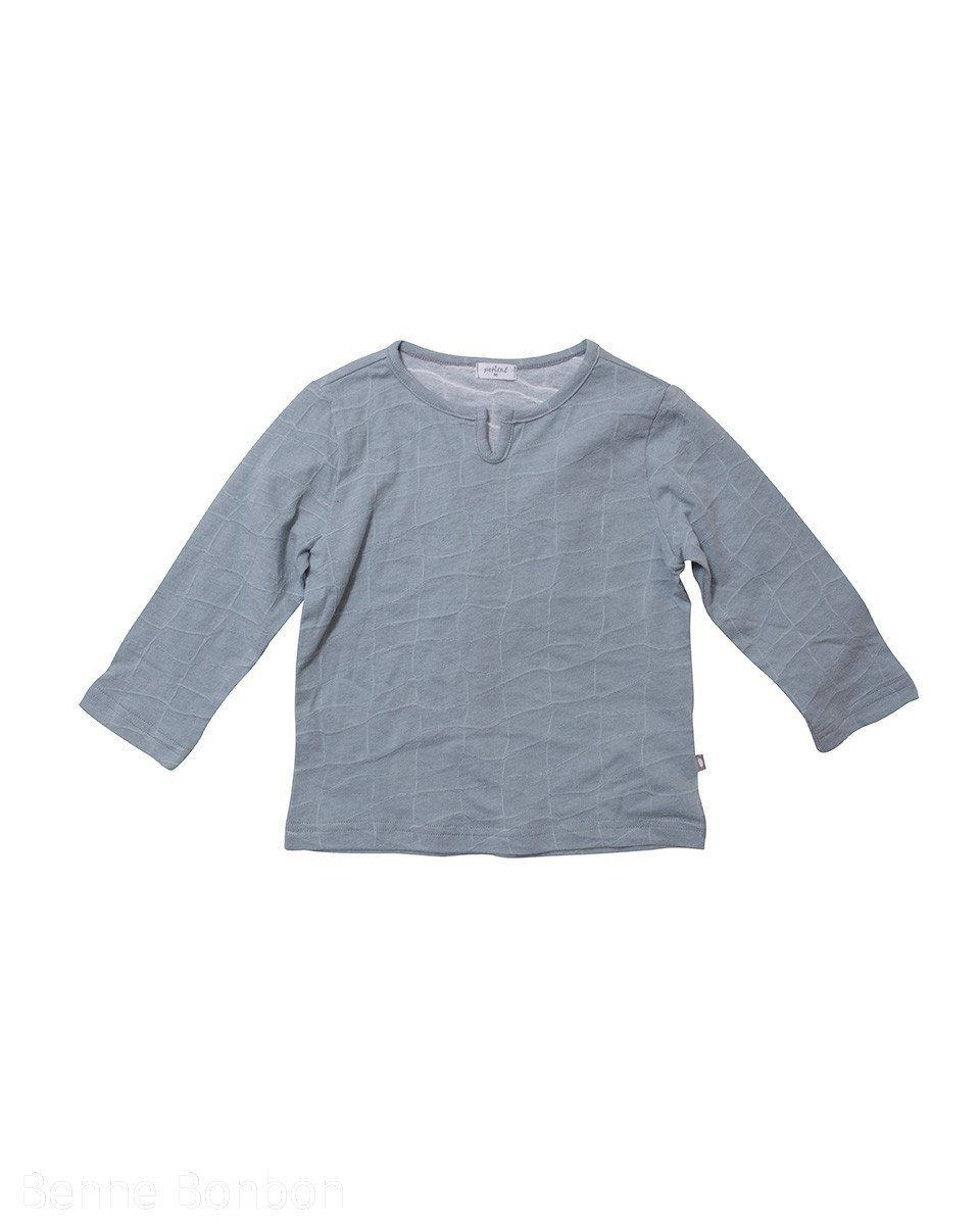 Andre Stitched Cotton T-Shirt, Blue/Grey