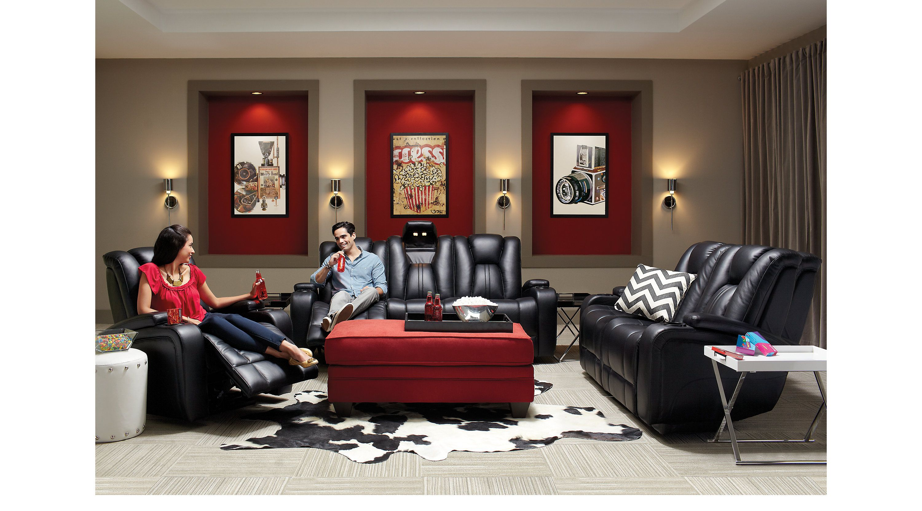 Kingvale Black 2 Pc Living Room With Power Reclining Sofa