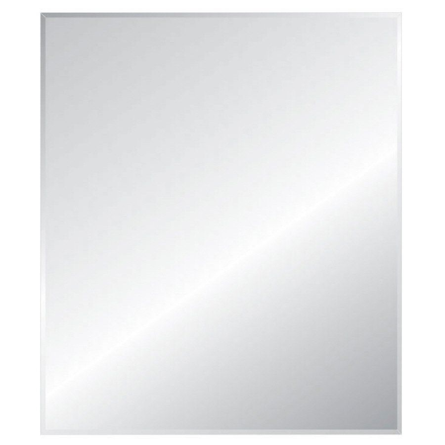 Style Selections Rectangular Frameless Bath Mirror with Beveled ...
