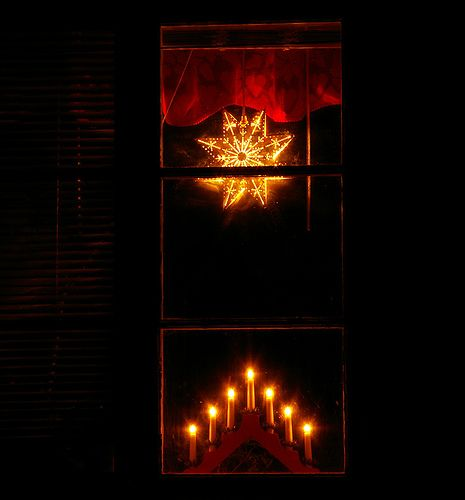 Christmas Window Electric Candles