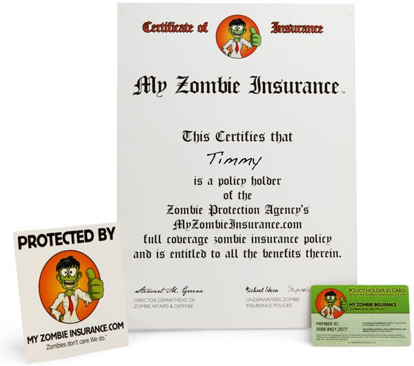 Zombie Insurance Kit Weird Stuff On Amazon Think Geek Zombie