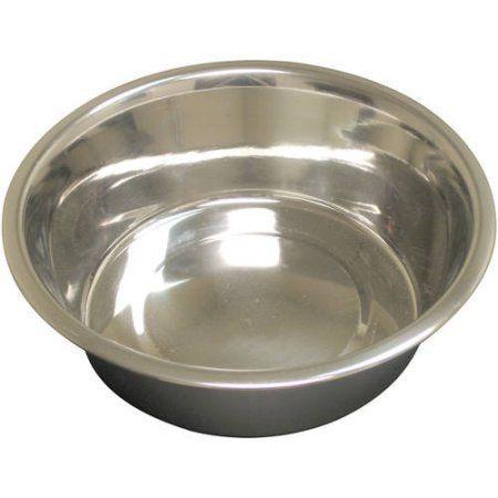 Qt Dog Heavy Standard Stainless Steel Food Bowl 1 Pt Dog Bowls
