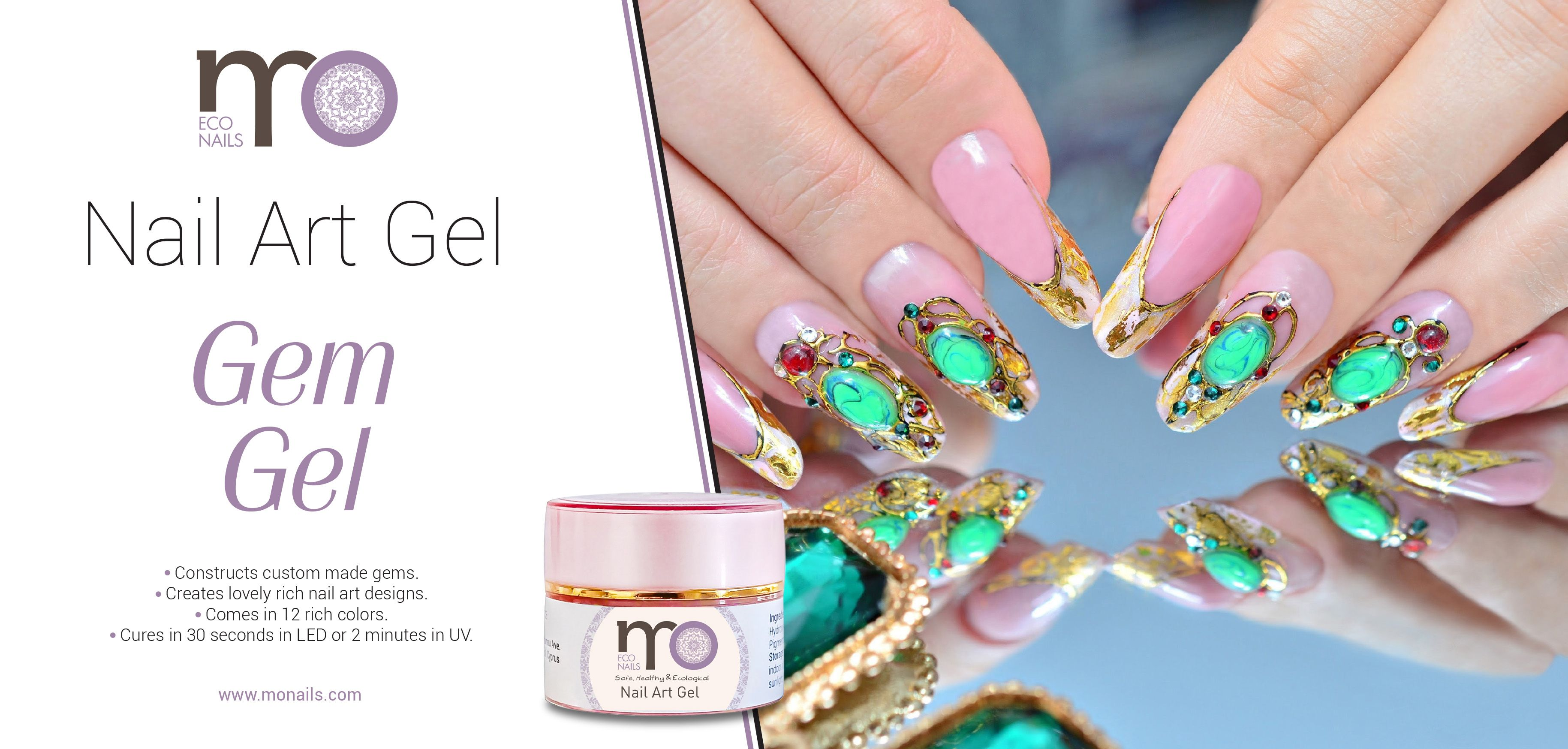 Decorate your nails with beautiful custom made gems with our Gem Gel ...