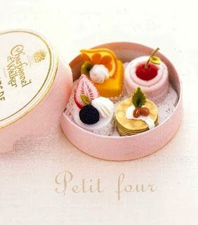 I have a summer tea party planned and will be giving petit fours as party favors...I've ordered the boxes and will be going to Paris Pastries to fill them...lovely~to go please...