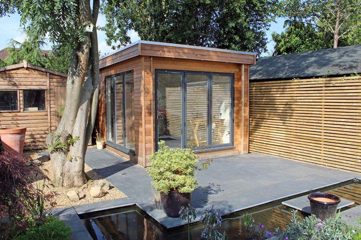 Garden Studio Used As An Art Studio In St Albans Uk Western Red