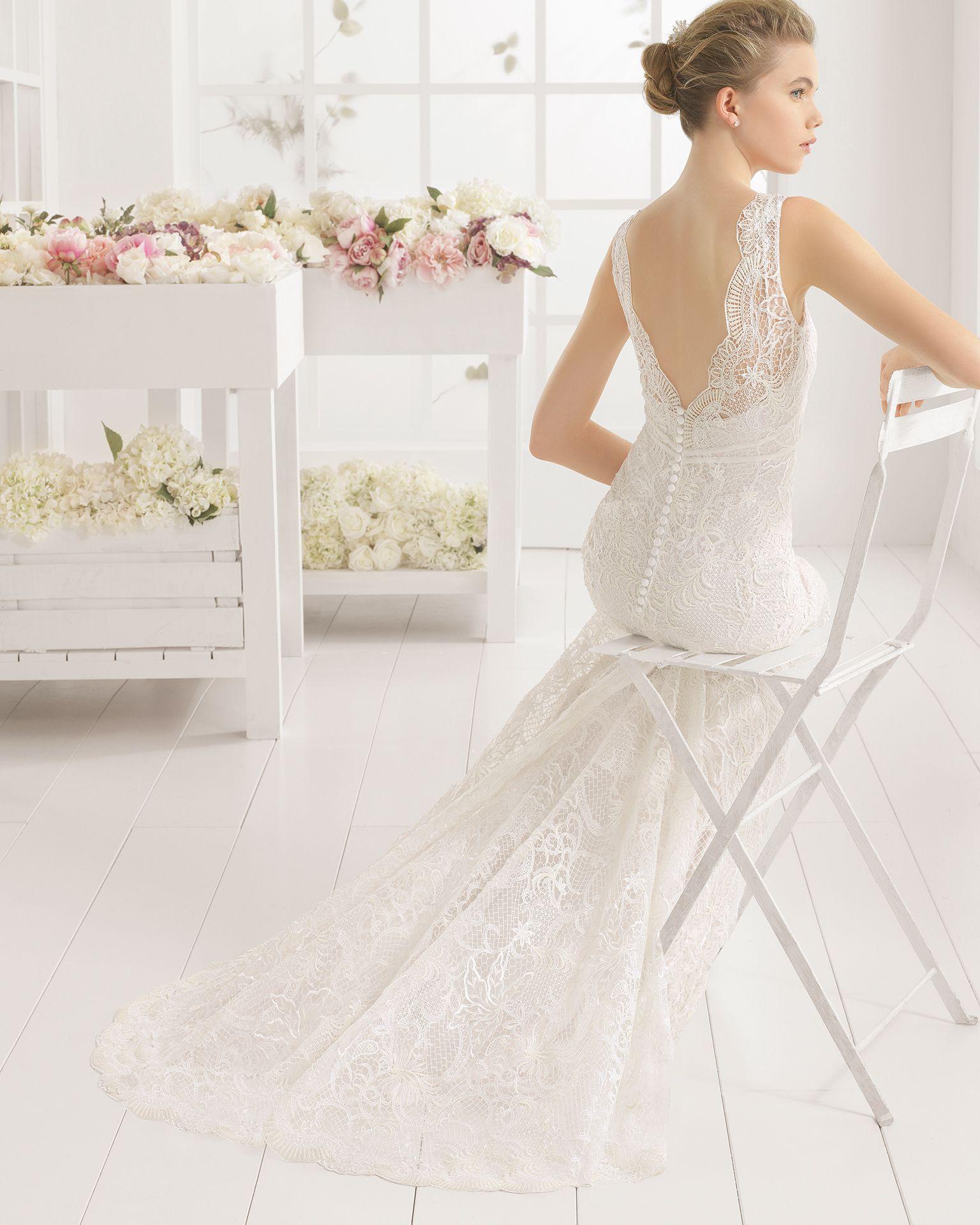MALTA vestido de novia en guipour. | One Day | Pinterest | Aire ...