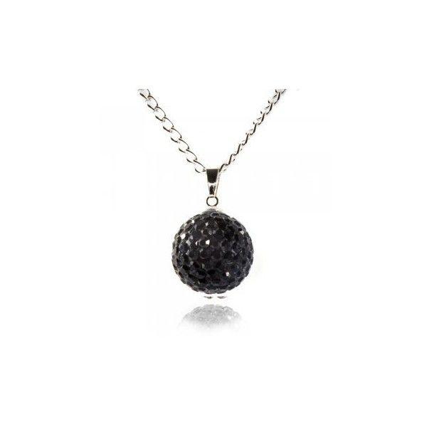 Fizzball Collection Crystal Ball Necklace Black ($29) via Polyvore