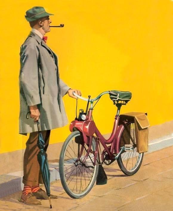 Velosolex 45cc De Jacques Tati En La Película Mi Tío Mon Oncle Velo Solex Solex Cyclomoteur