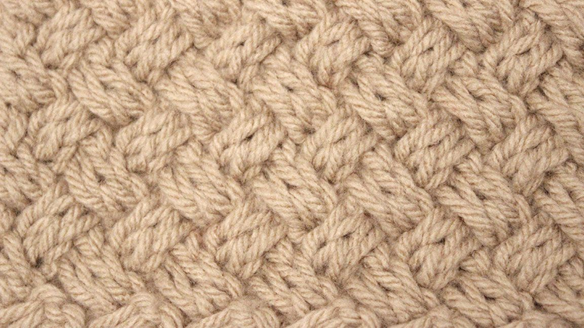 How to Knit the Basket Weave Stitch Diagonal Braided + Woven | Amo ...