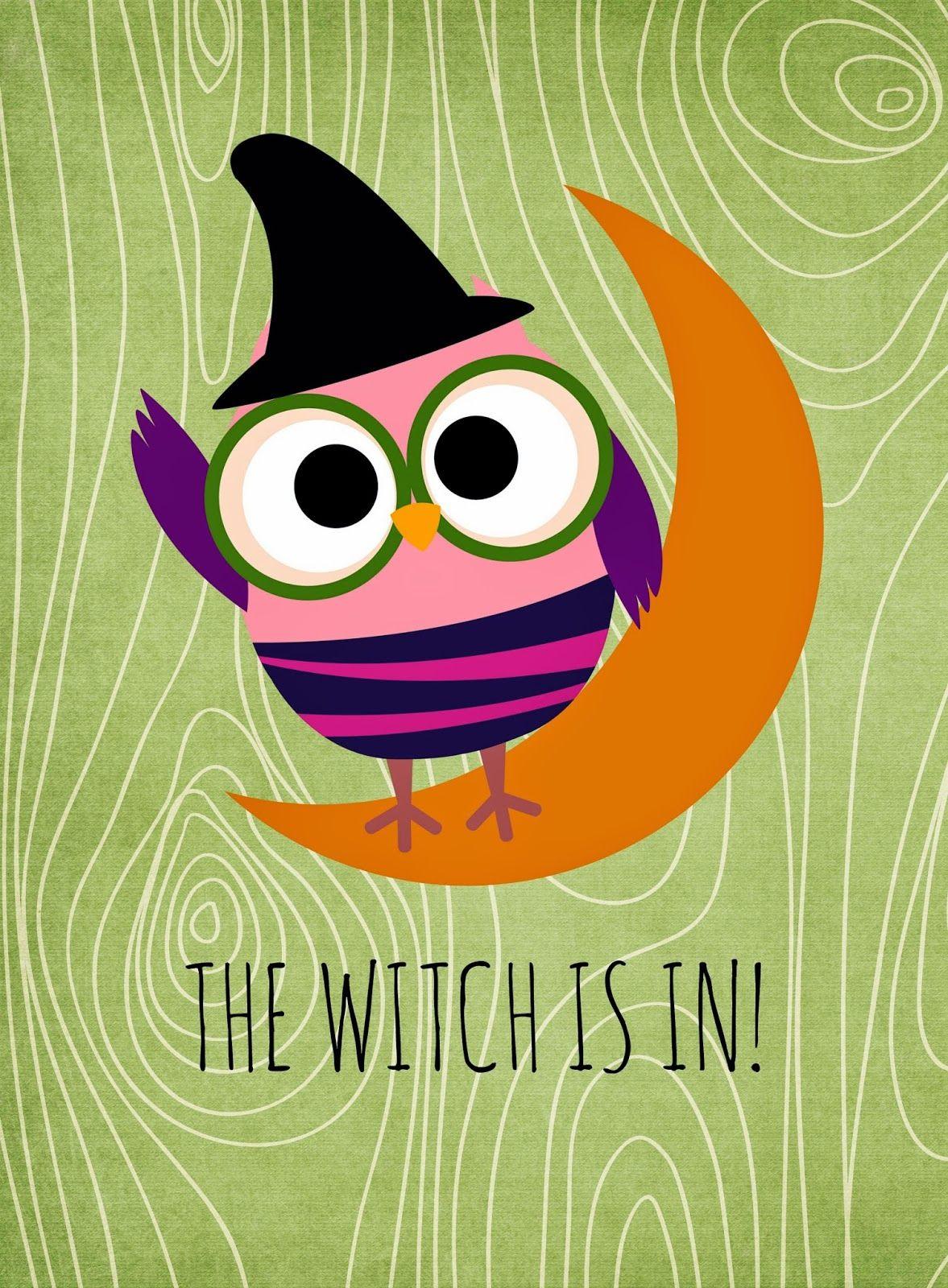 Free Halloween Printables | Eule und Sprüche