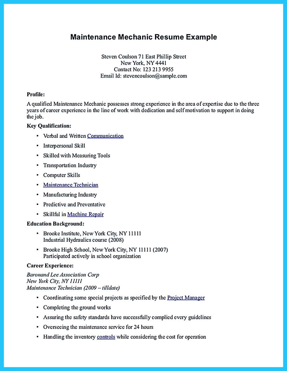 Convincing Design And Layout For Aircraft Mechanic Resume Resume No Experience Resume Examples Basic Resume Examples