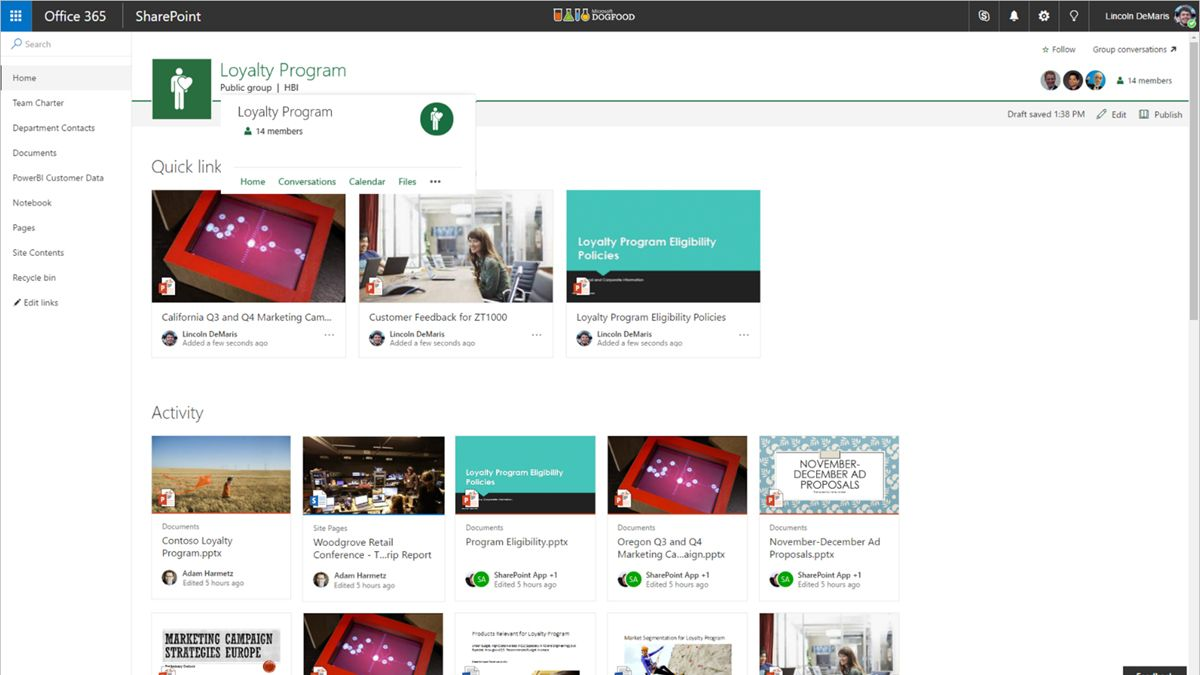 Microsoft Updates SharePoint Online Team Sites with Office