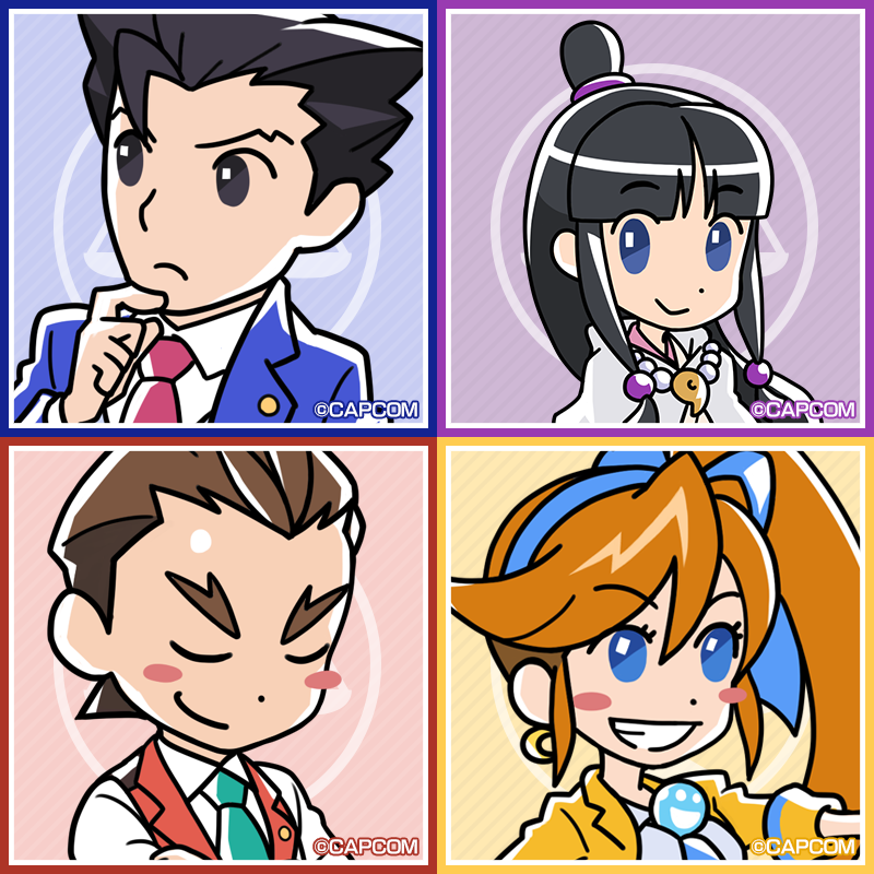 Official Ace Attorney 6 Icons Phoenix Wright Ace Attorney Phoenix Wright Ace Apollo Justice