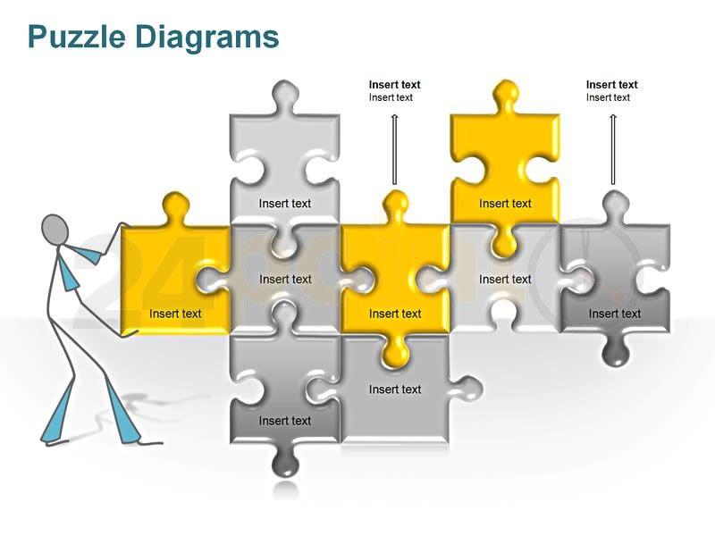 Editable PowerPoint Template - Puzzle Diagram Illustrations - puzzle powerpoint template