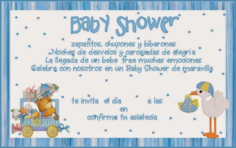 Muyamenocom Tarjetas E Invitaciones De Baby Shower Para Niños