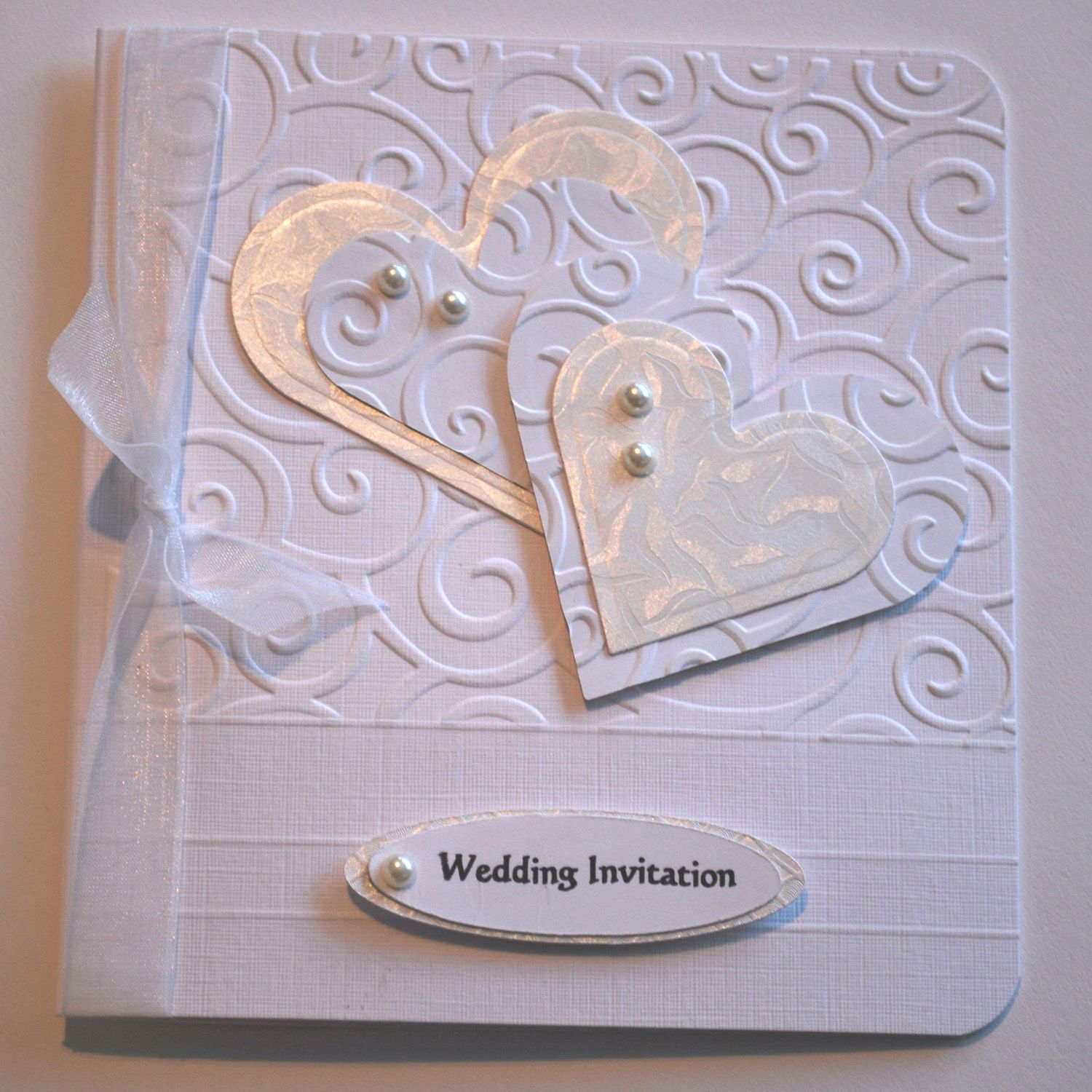 Cuttlebug Cards The Wedding Invitation Card And Golden Heart Uses