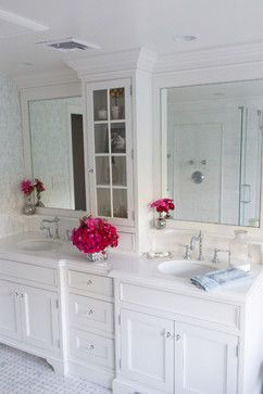Love This Mirror And Cabinet For The Master Bath Sweet Small Raised Shelf Above Each Sink Is