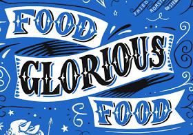 Food Glorious Food' artwork for card & tea towel | Food artwork, Food, Food  banner
