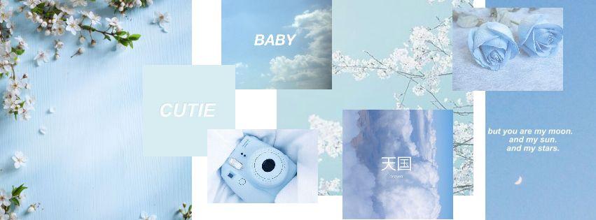 Moodboard Blue Aesthetic Pastle Header Twitter