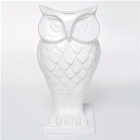 Pure White Owl Vase Owls For Every Occasion Pinterest Owl