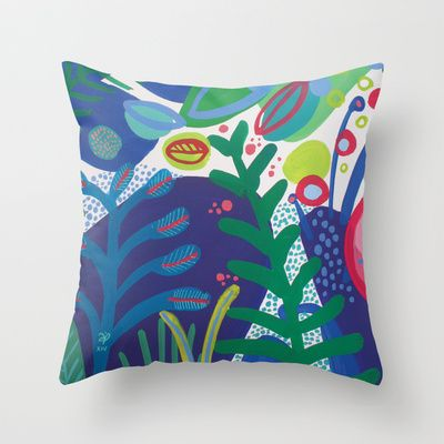 Secret garden III Throw Pillow by Milanesa - $20.00
