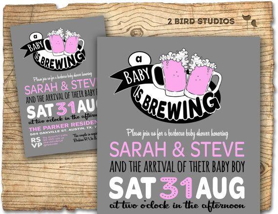 Baby Q Beer Baby Shower Invitation Baby Q Baby Shower Invite Coed
