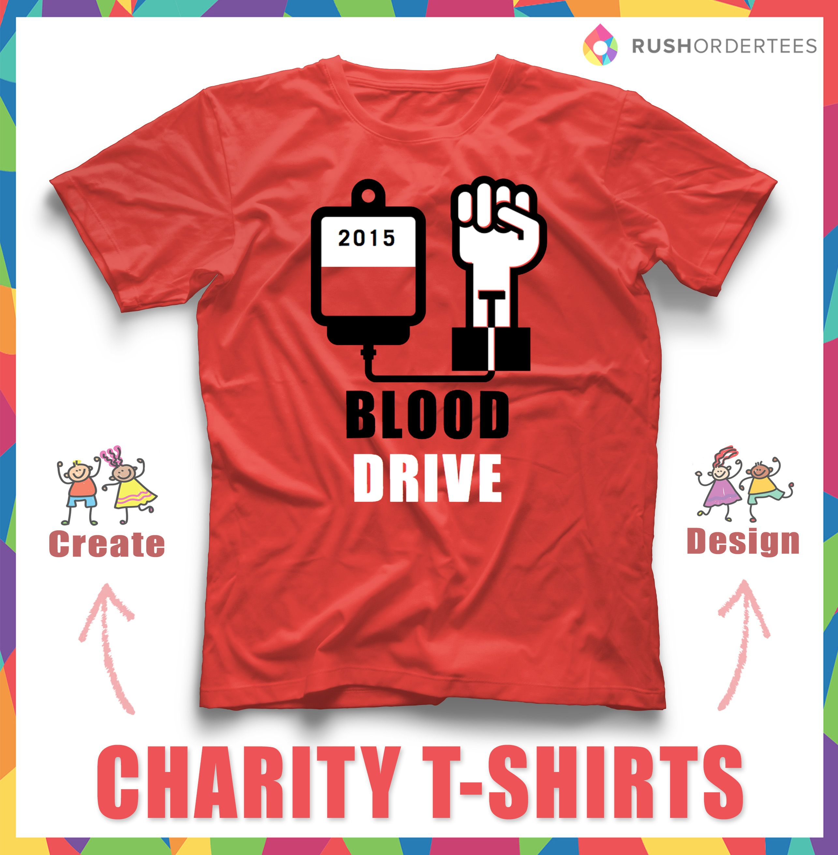 Creative blood drive tshirt blooddrive customtshirts for Non profit t shirt fundraiser