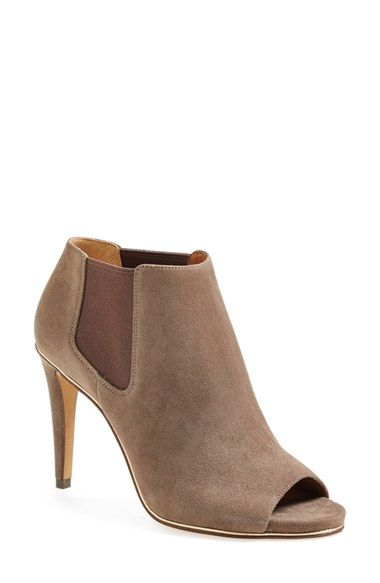 f5fe034883 COACH 'Adrianna' Suede Peeptoe Bootie (Women) available at #Nordstrom