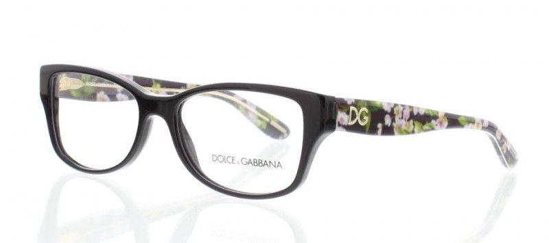 DOLCE GABBANA ALMOND FLOWERS DG3204 Noir 2846   Lunettes de vue D G ... 3691b9d6c8a3