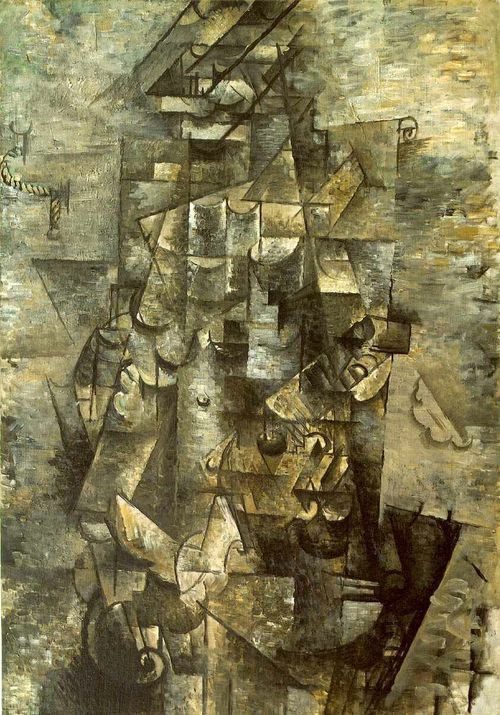 Georges Braque 1911 Man With A Guitar Art Painting Georges