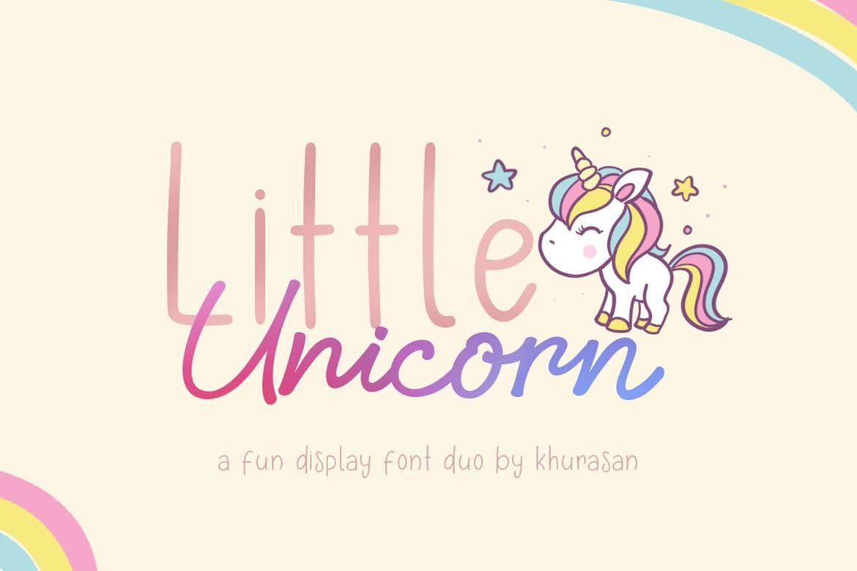 Шрифт little unicorn font duo  Шрифты Проекты
