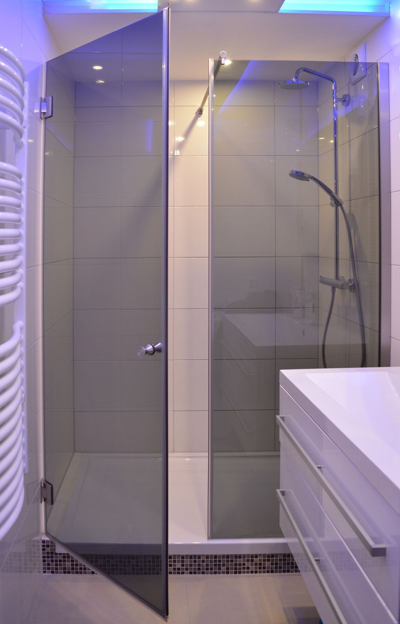 Nischendusche Duschabtrennung Badezimmer Planen Glasduschen