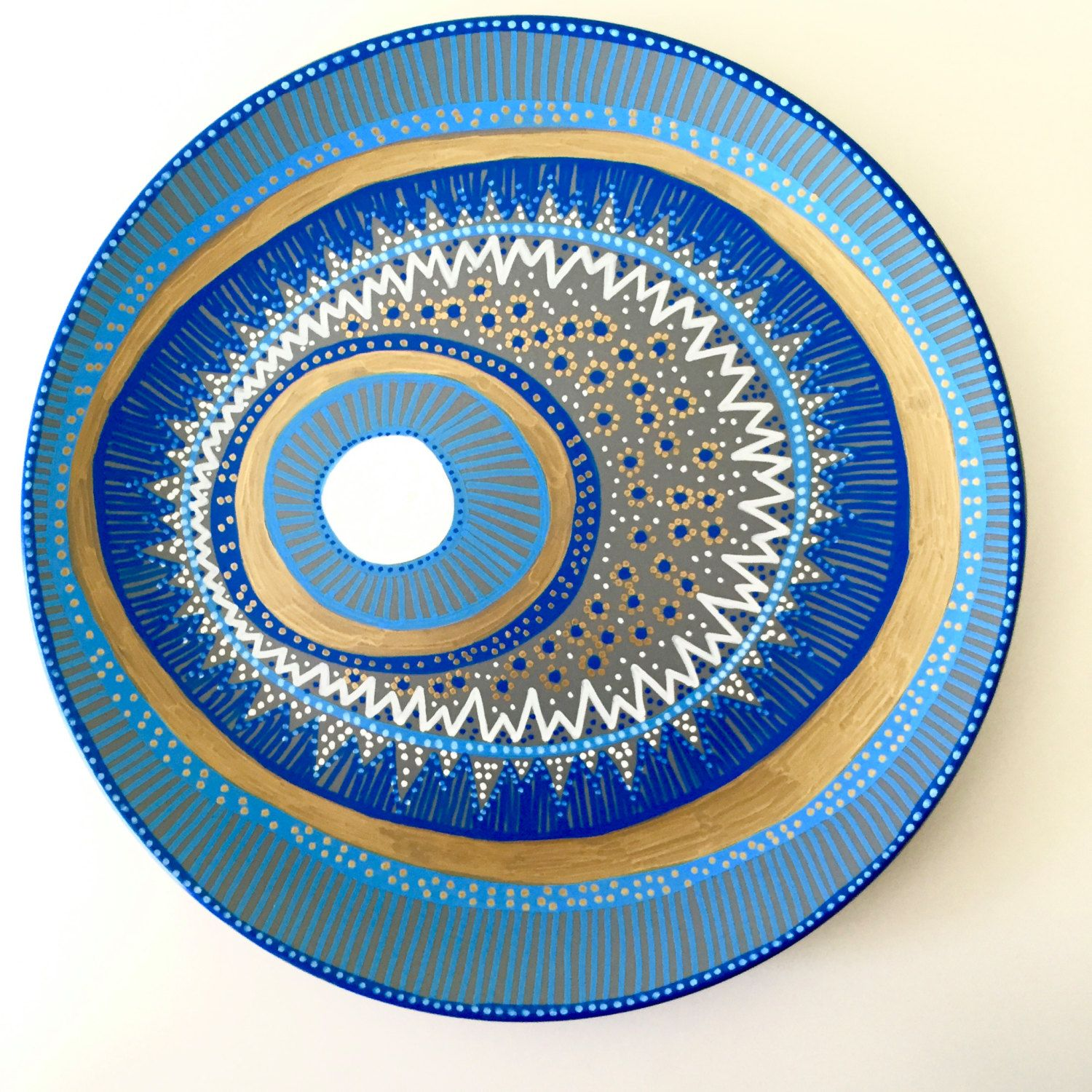Decorative Plate - Evil Eye Wall Decor - Original hand-painted Artwork - Wall Hanging  sc 1 st  Pinterest & Decorative Plate - Evil Eye Wall Decor - Original hand-painted ...