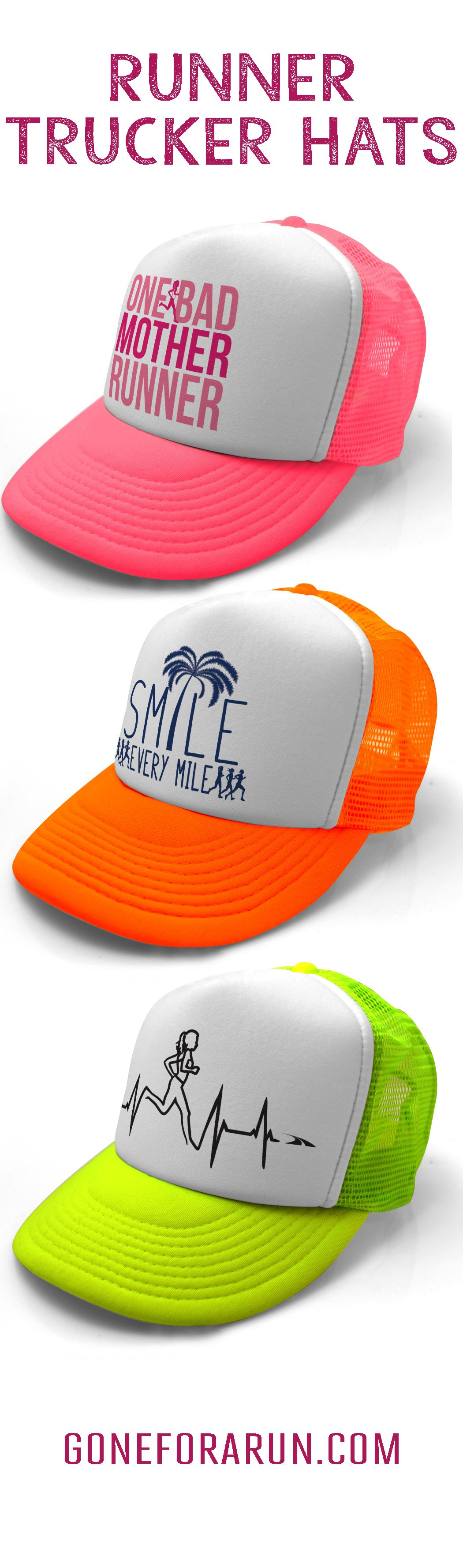 Our running trucker hats are awesome lots of great