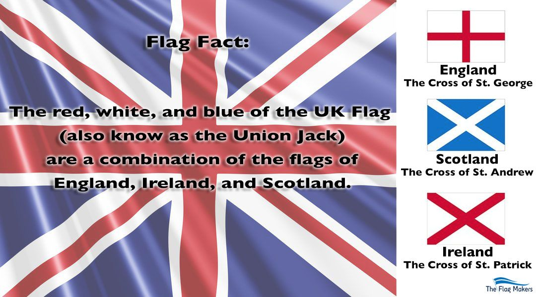Flag Facts The Red White And Blue Of The Uk Flag Also Known As The Union Jack Are A Combination Of The Th Design Your Own Flag Custom Flags Custom Banners