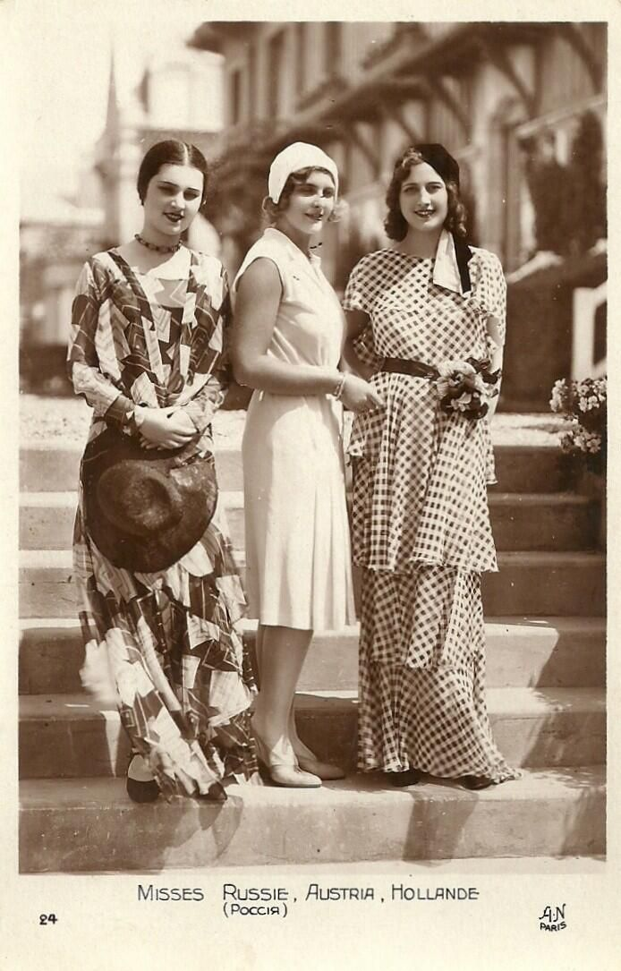 Miss Russia, Miss Austria and Miss Netherlands, 1930