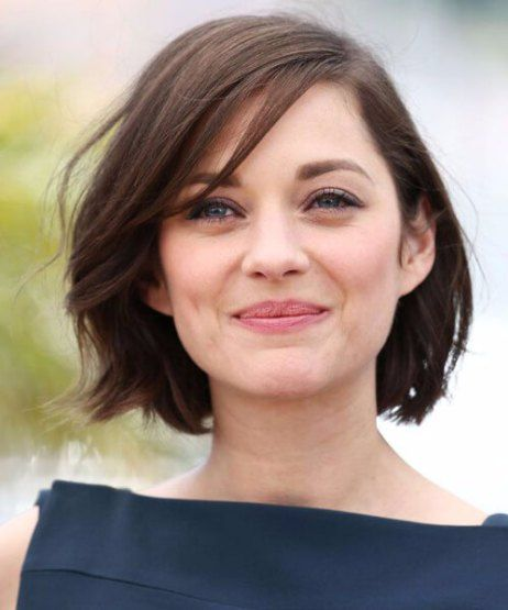 Marion Cotillard Haircuts For Round Faces Thick Hair Styles Hair Styles Short Hair Styles