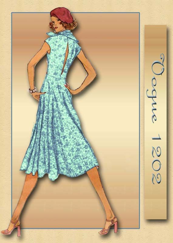 1970s Dress Pattern Vogue 1202 Day Dress and Evening Dress For ...