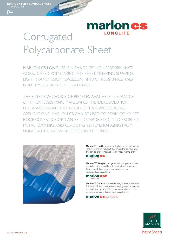 Marlon Cs Brochure Brett Martin Plastic Sheets Pdf Catalogs Technical Documentation Brochure Plastic Sheets Brochure Marlon