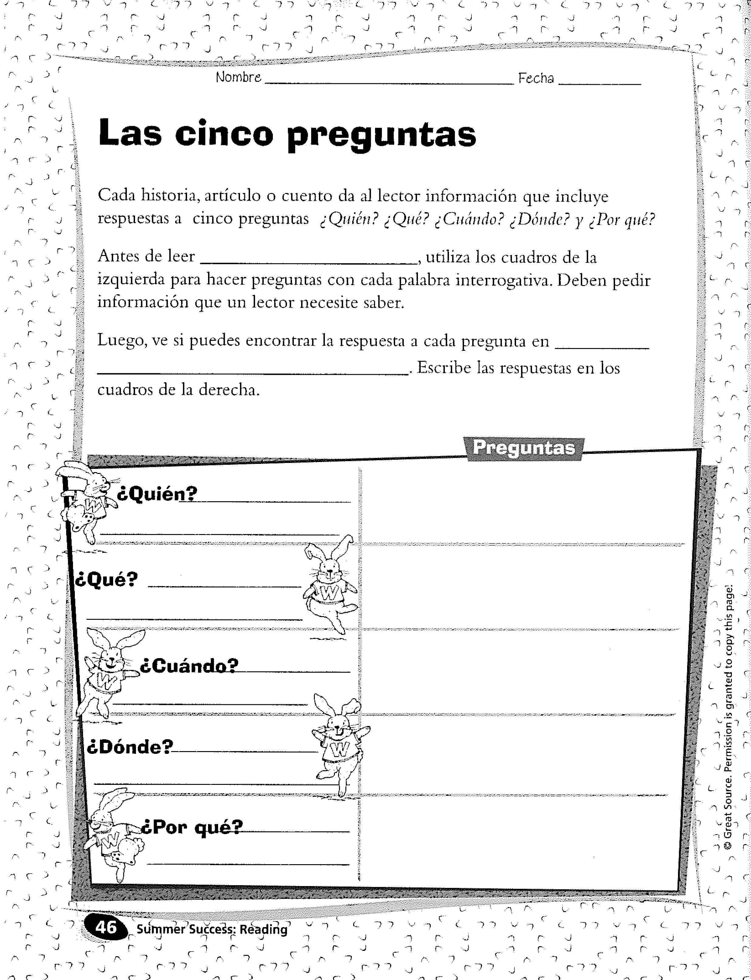 Spanish Activity Making Predictions Grades 3 6