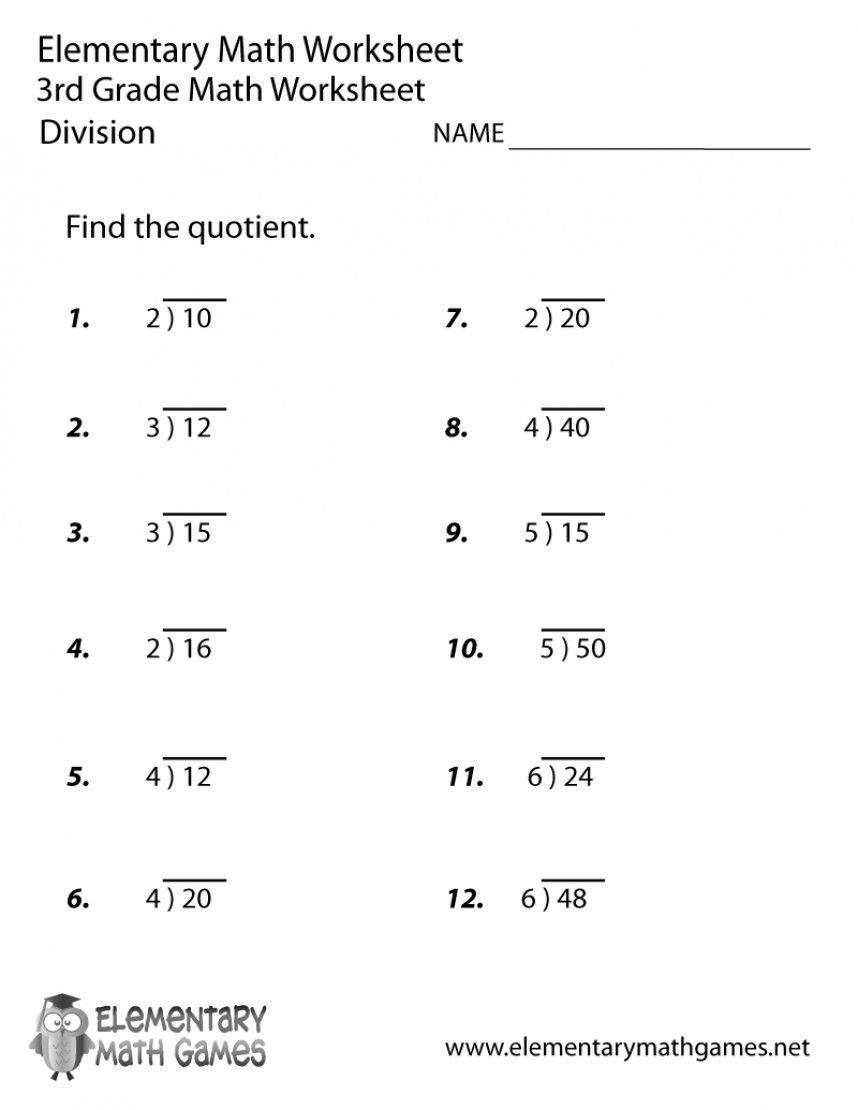 4 Worksheet Free Math Worksheets Third Grade 3 Division Division Facts 2 Or 3 Impressive Divi 3rd Grade Math Worksheets Free Math Worksheets Math Worksheets