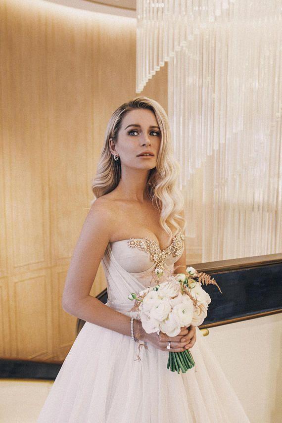 eddb56e183e5 Wedding dress NORA by Blammo-Biamo • A-line wedding dress with train •  Princess wedding dress