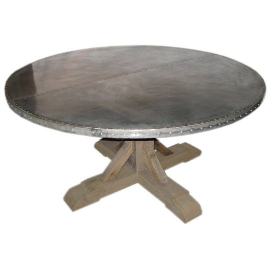 Belgian Round Zinc Top Dining Table 1stdibs Com Dining Table Zinc Table Modern Dining Room Tables
