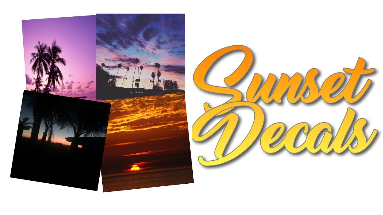Roblox Bloxburg Sunset Decal Id S Youtube Custom Decals Rose Gold Aesthetic Decals