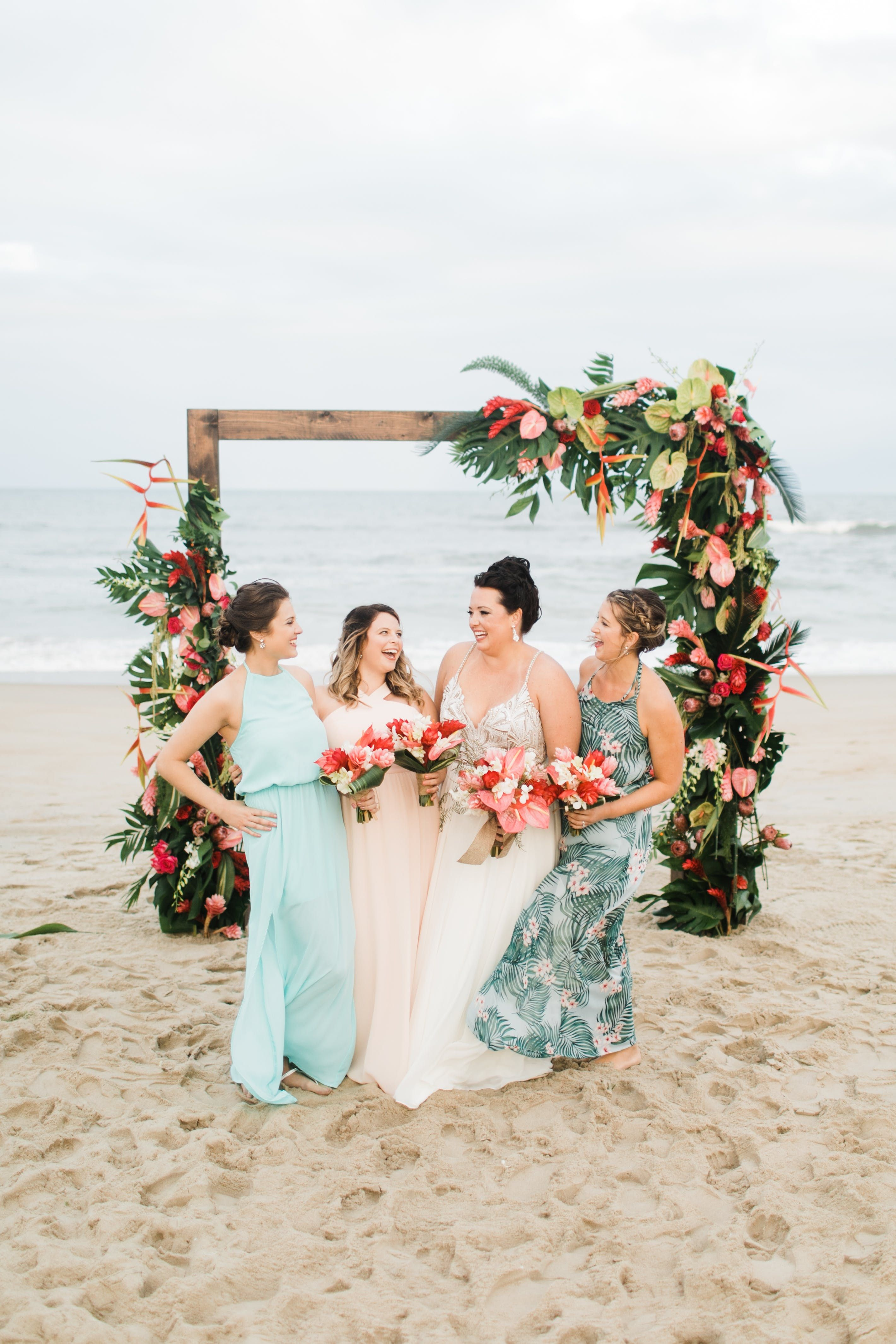 Tropical North Carolina Wedding At Sanderling Resort Wedding North Carolina Wedding Outer Banks Beach Wedding