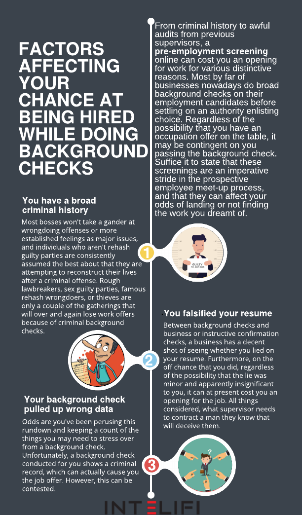 Factors Affecting Your Chance At Being Hired While Doing Background Checks Background Check Employment Background Check Hiring