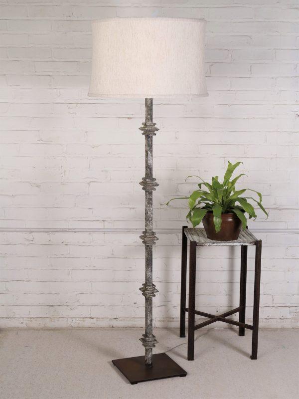Square Collar Floor Lamp Metal Lamp Floor Lamp Handcrafted Lamp #rustic #floor #lamps #for #living #room