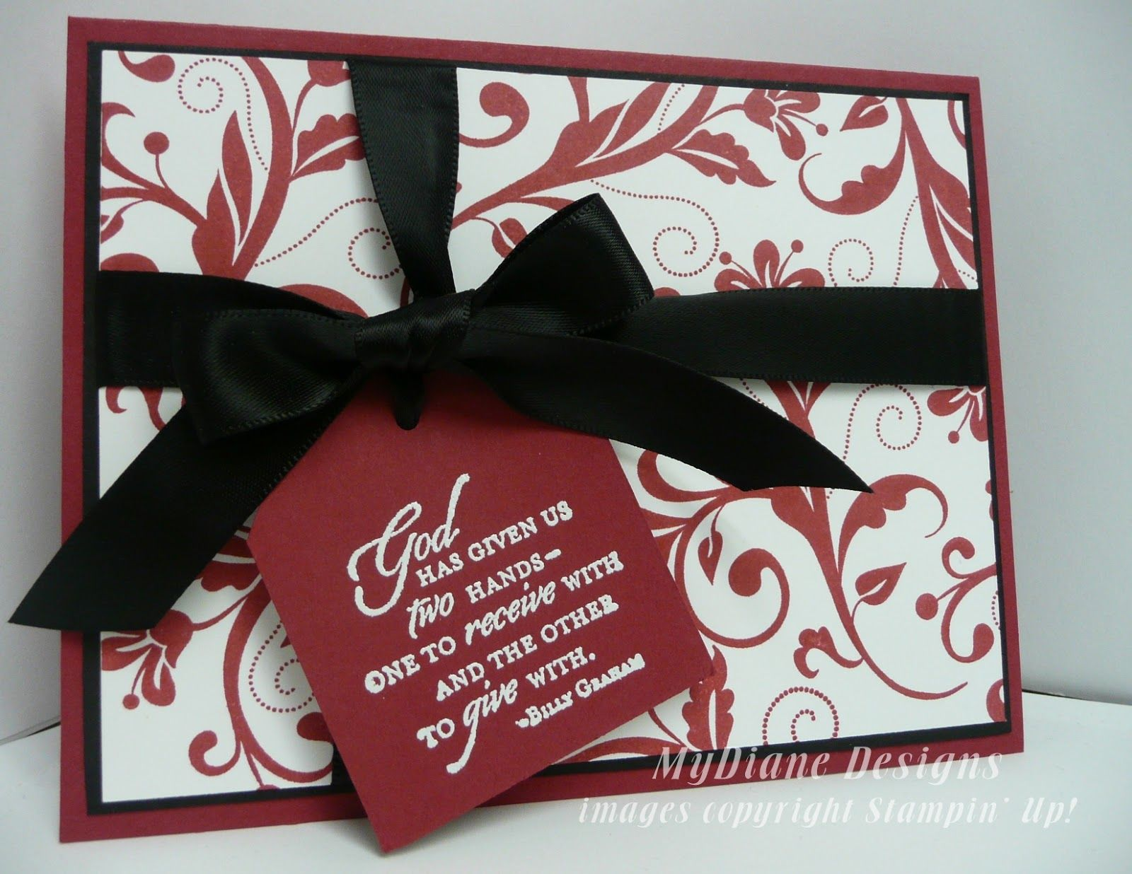MyDiane Designs, Stampin Up, Flowering Flourishes, Trust God, handmade cards